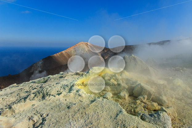 Volcano on Vulcano island Sicily – Popular Stock Photos