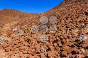 Wall of crater Namibia - Popular Stock Photos