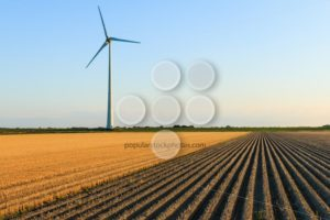 Windmill at farmer fields - Popular Stock Photos