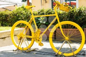 Yellow painted mountainbike - Popular Stock Photos