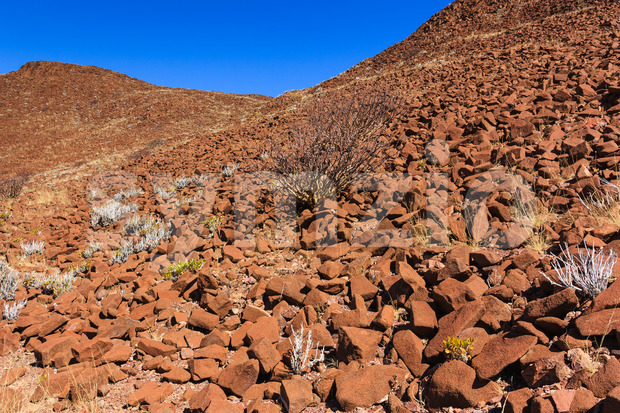 Wall of crater Namibia Stock Photo