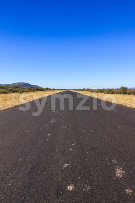 Road to nowhere Namibia Africa Stock Photo
