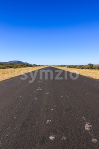 Road to nowhere Namibia Africa Stock Photo