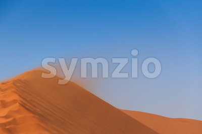 Sandstorm red sand dune Sossusvlei Stock Photo