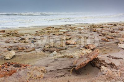 Rocky shore skeleton coast Namibia Stock Photo