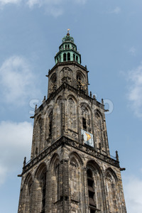 Martini tower in the city Groningen Stock Photo