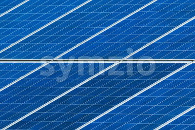 Solar panels grid close up Stock Photo