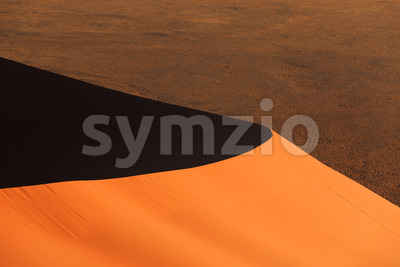 Edge red sanddune Sossusvlei Stock Photo