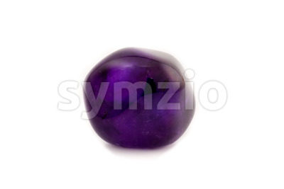 Relaxing amethyst gemstone Stock Photo