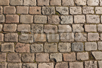 Old cobbled street background Stock Photo