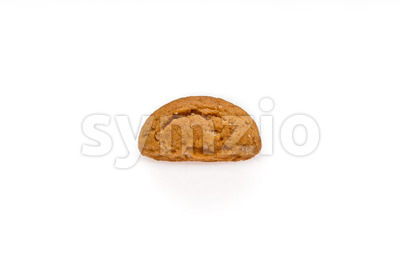 Single pepernoot isolated front view Stock Photo