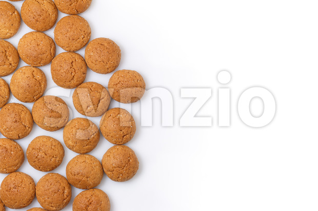 Pepernoten left isolated copy space Stock Photo