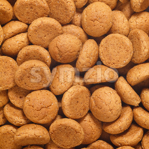 Square of pepernoten, ginger nuts Sinterklaas Stock Photo
