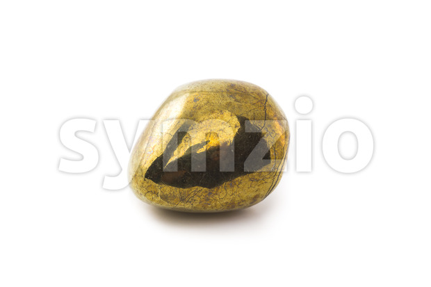 Pyrite stone on white background Stock Photo
