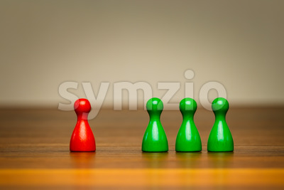 Concept good bad, isolation, confrontation, competition Stock Photo