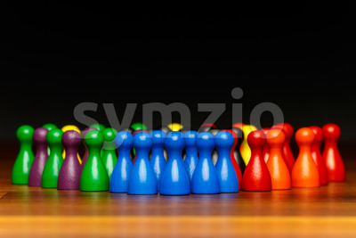 Concept teamwork, organization, group multi color Stock Photo