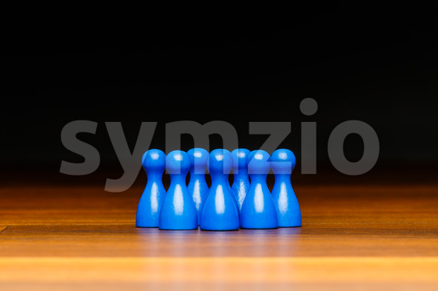 Concept team, group, friends, blue and black Stock Photo
