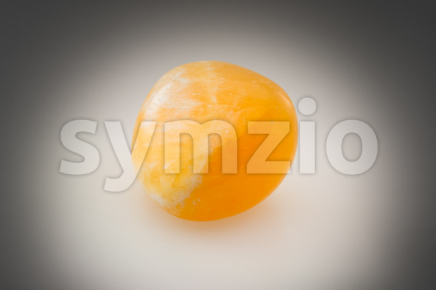 Bright orange calcite gray Stock Photo