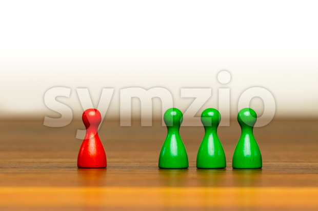 Concept good bad, isolation, confrontation white background Stock Photo