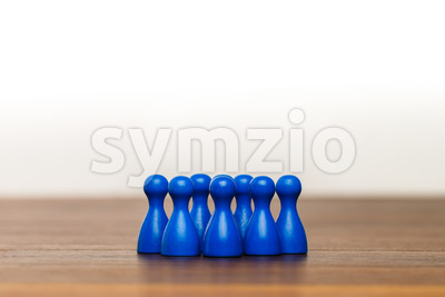 Concept team, group, friends, blue and white Stock Photo