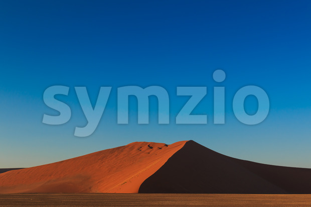 Big red sand dune sunrise magic Sossusvlei Stock Photo