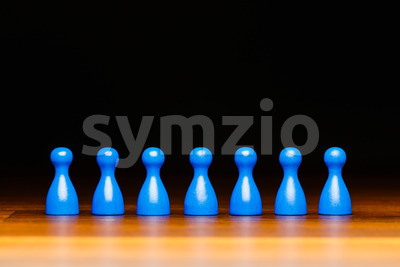 Concept team, business, organization, blue and black Stock Photo