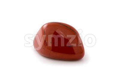 Red jasper gem white background Stock Photo