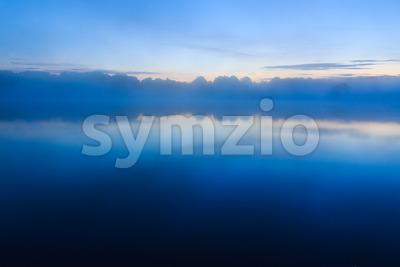 Beautiful sunrisie over lake France Stock Photo