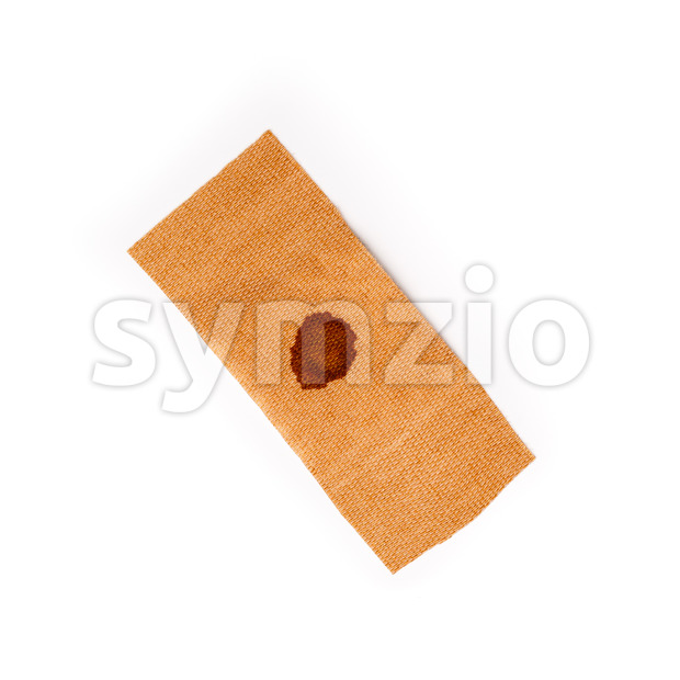 Band aid dried blood isolated white Stock Photo