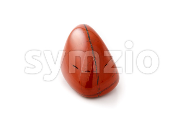 Red jasper close up white background Stock Photo
