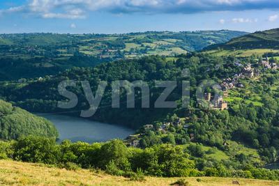 Landscape Lac de Castelnau France Stock Photo