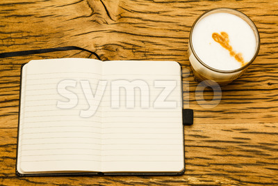 Concept empty notebook start day Stock Photo