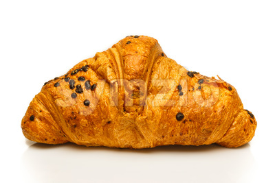 French chocolate croissant isolated Stock Photo