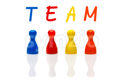 Concept team, teamwork, organization colored Stock Photo