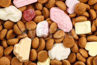 Background pepernoten and sweets Sinterklaas Stock Photo
