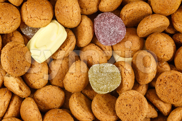 Close up pepernoten sweets Sinterklaas Stock Photo