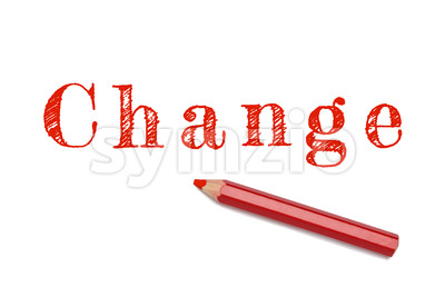 Change sketch red pencil Stock Photo