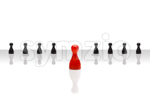 Business concept leader forward red some black gradient Stock Photo