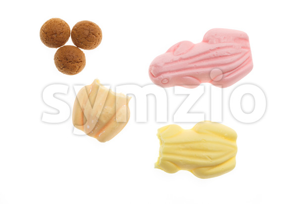 Delicious frog sweets pepernoten Sinterklaas Stock Photo