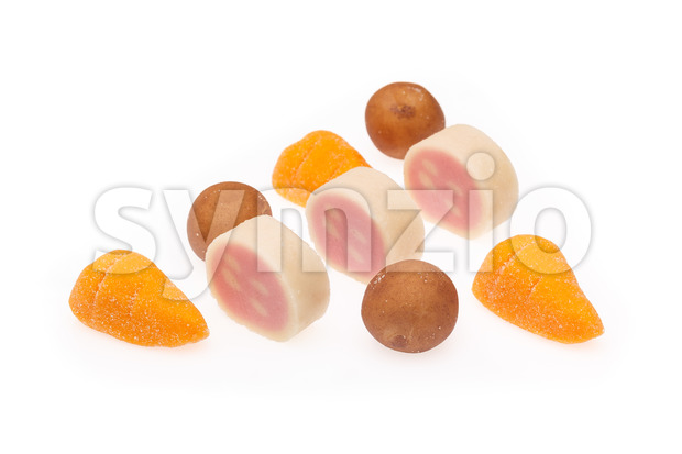 Marzipan several Sinterklaas Stock Photo