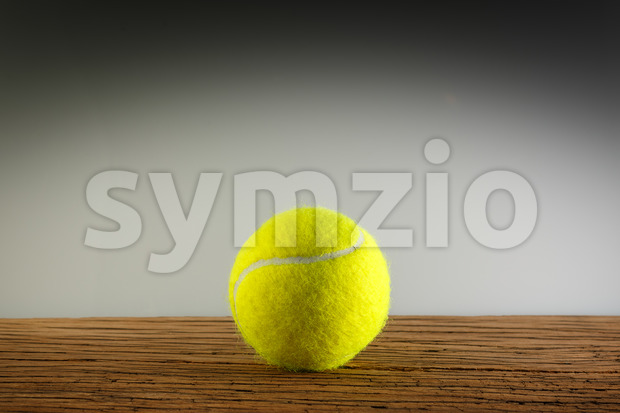 Tennisball wood shadow light Stock Photo