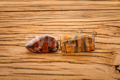 Pietersite tiger eye gemstone Stock Photo