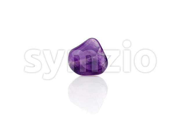 Purple amethyst back light isolated Stock Photo