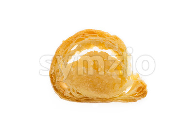 Banketstaaf small slice Sinterklaas isolated Stock Photo