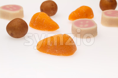 Marzipan treats Sinterklaas Stock Photo