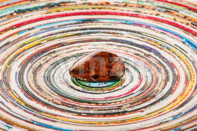 Pietersite on colorful surface Stock Photo