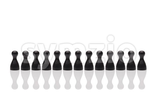 Concept teamwork, organization, group black Stock Photo