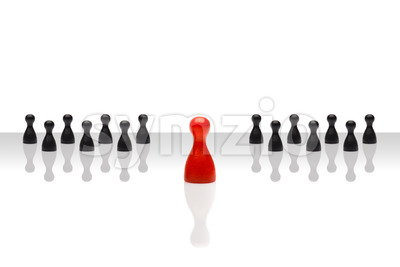 Business concept leader forward red black grouped gradient Stock Photo