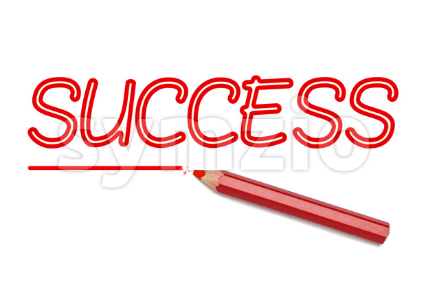 Success written red pencil Stock Photo