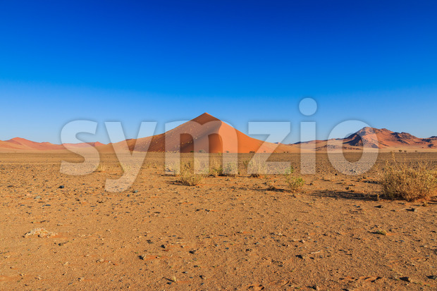 Big red sand dune landscape Sossusvlei Stock Photo
